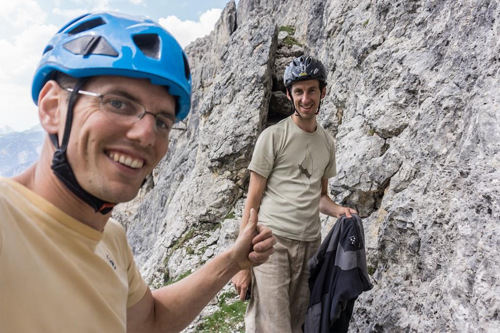 Stefan und ich bohren die Tour in zwei Tagen von unten ein