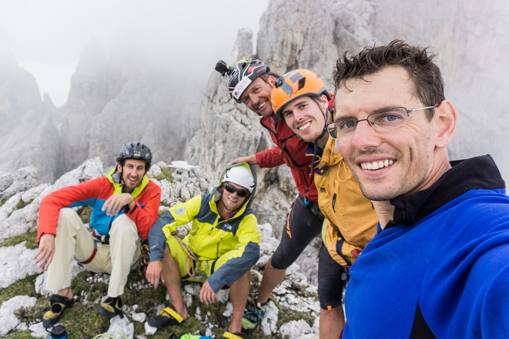 Stefan, Hans, Michl, Chris und i am Gipfel