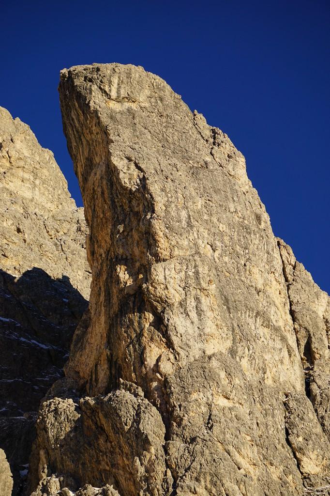 der Torre Anna - die schattige NW Wand war noch frei von Routen
